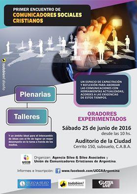 Flyer Encuentro Comunicadores Cristianos 25 de junio