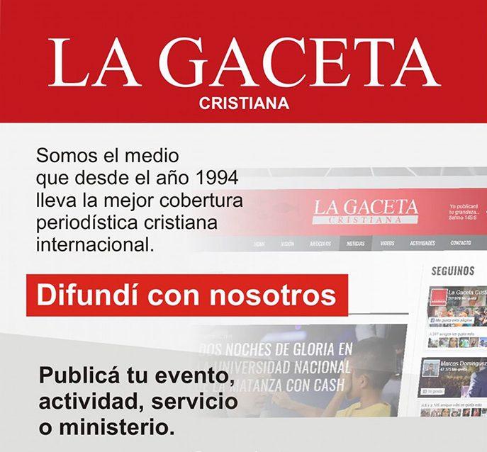 Publicitá en La Gaceta Cristiana